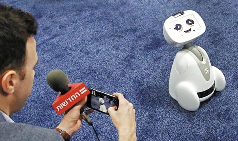 프랑스의 로봇 스타트업 블루프로그 로보틱스가 개발한 가정용 소셜 로봇 '버디'.