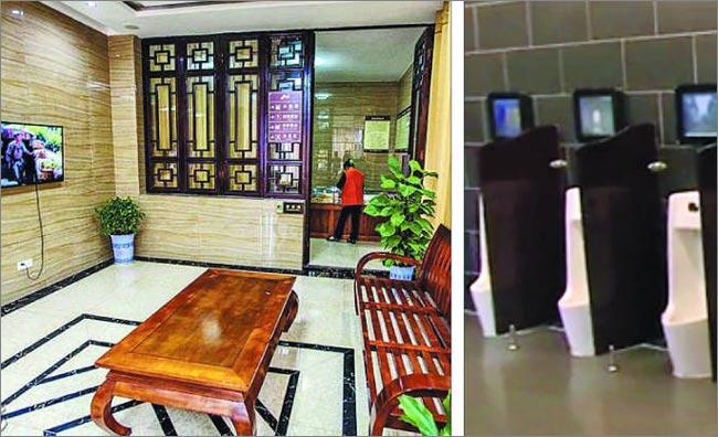 시진핑 중국 국가주석이'화장실 혁명'을 강조한 이후 중국에 고급스러운 공중 화장실이 생겨나고 있다.