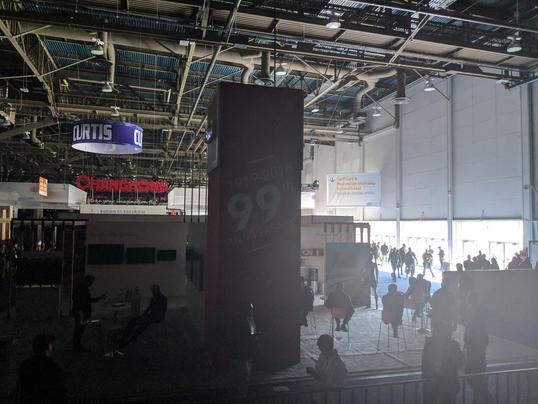 10일(현지시각) 미국 라스베이거스에서 열리고 있는 'CES 2018' 행사장에 정전이 발생했다. / 라스베이거스=황민규 기자