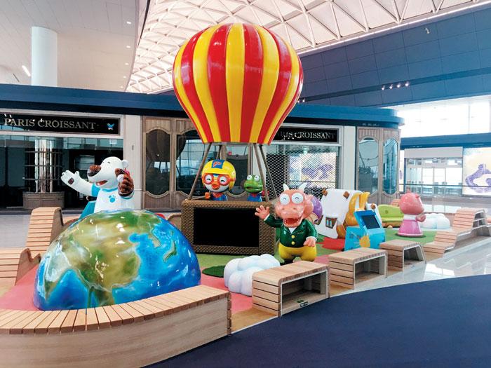 인천공항 2터미널 3층(출발층)에 마련된 어린이 놀이 공간.