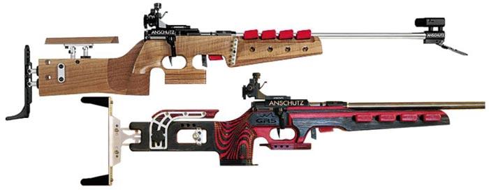 독일'안쉬츠'사가 제조한 오리지널 총(위). 같은 회사에서 나온 총도 성형을 거치면 완전히 다른 모습(아래)이 된다.