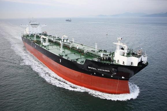 삼성중공업이 건조한 셔틀 탱커.셔틀탱커는 해양플랜트에서 생산한 원유를 육상으로 나르는 선박이다. /삼성중공업 제공
