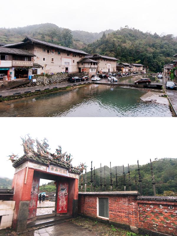 탑하촌의 모습(상)과 마을의 가묘인 덕원당(하)