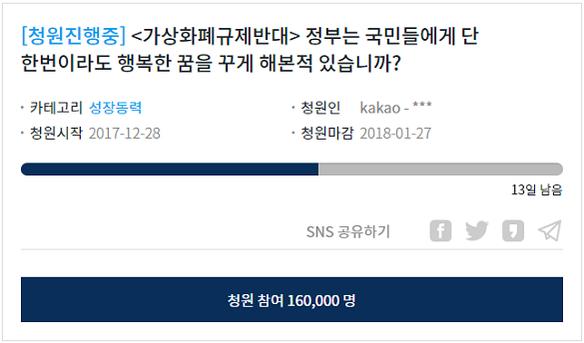 청와대 국민청원 홈페이지 캡처(1월 13일 오후 11시 1분 기준)