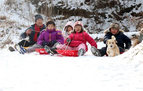 산골 아이들의 신나는 겨울 보내기
