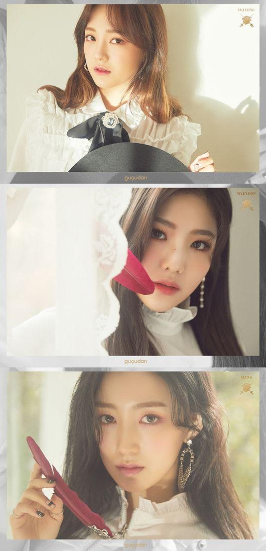 """[Oh!쎈 컷] """"심쿵 미모""""..구구단 세정·하나·혜연, 순백의 컴백 티저"""