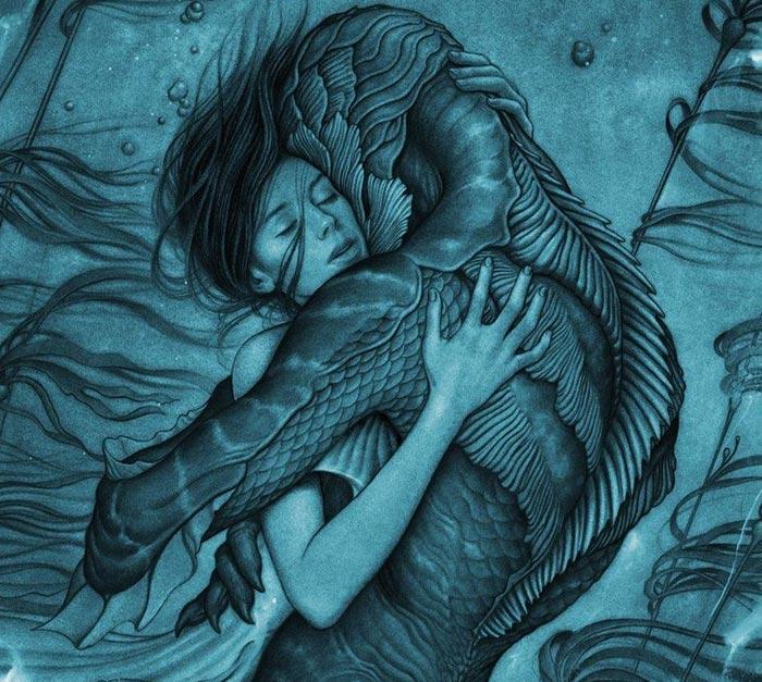 영화'셰이프 오브 워터: 사랑의 모양'포스터.