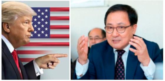 트럼프 미국 대통령(왼쪽)과 유영민 과학기술정보통신부 장관(오른쪽). / 조선일보 DB