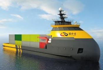 중국이 설계한 무인 자율 운항 선박 '근두운'.