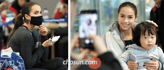 (왼쪽 사진)자기토바의 올블랙 공항패션 (오른쪽 사진)꼬마아이와 한컷
