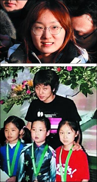 초등학생 때 안현수와 함께 최민정은 지난 5일 선수촌에 입촌하면서 전관왕에 도전하겠다는 뜻을 밝혔다(위).