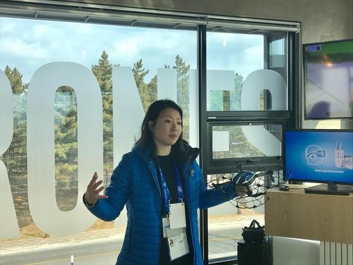 나탈리 청(Natalie Cheung) 인텔 드론 라이트쇼(Intel Drone Light Shows)그룹 매니저(GM). / 황민규 기자