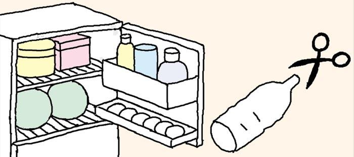 [리빙포인트] 달걀, 페트병에 보관하기