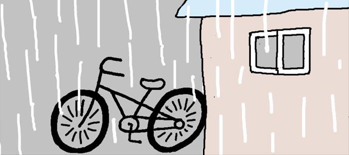 [리빙포인트] 비 맞은 자전거 말끔히 닦으려면