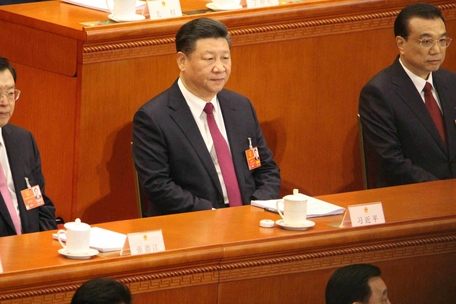 시진핑 중국 국가주석의 종신집권을 가능케 하는 개헌안을 심의할 전인대가 5일 개막했다. 11일 표결이 이뤄질 예정이다. /베이징=오광진 특파원