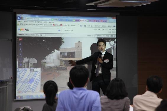 김윤수 (주)빌사남 대표가 꼬마빌딩에 대한 강의를 하고 있다. /이진혁 기자