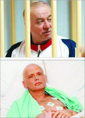 러시아 군 정보부에서 근무하며 영국 정보기관에 협조한'이중 스파이'세르게이 스크리팔이 2004년 러시아 당국에 체포된 모습(위).