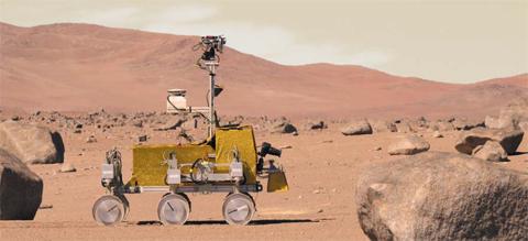 여기가 화성이야? 지구야? - 칠레 아타카마사막에서 시험 중인 화성 탐사 로봇. 아타카마 사막에도 미생물이 살 수 있는 것으로 밝혀지면서 화성 생명체에 대한 기대감이 높아지고 있다. ESA는 2020년 화성에 엑소마스 탐사 로봇을 보낼 계획이다.