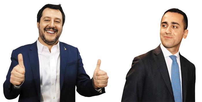 살비니(사진 왼쪽), 디 마이오.