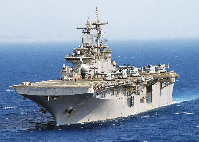 다음 달 초 한·미 연합 상륙훈련에 참가할 미국의 대형 강습상륙함 '와스프'