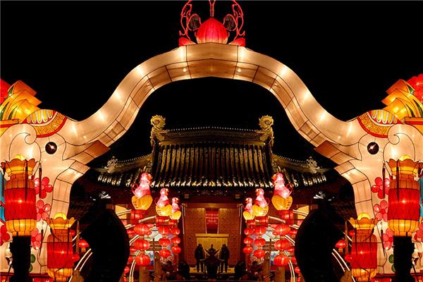 난징 진화하 연등축제
