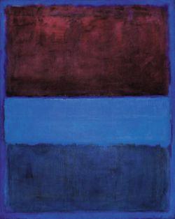 마크 로스코, 61번(적갈색과 청색), 1953년, 캔버스에 유채, 292.7x233.8㎝, 로스앤젤레스 현대미술관 소장.