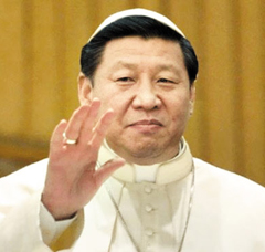 시 주석을 교황에 비유한 패러디물.