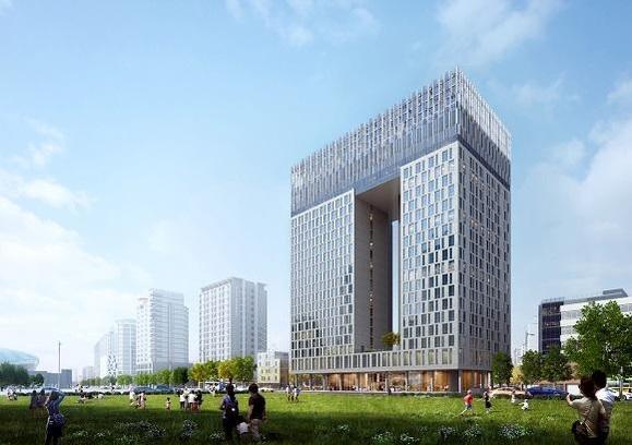 서울 중구 을지로 6가 58-5에 들어설 예정인 '노보텔 앰배서더 동대문 호텔&레지던스' 조감도. /KT에스테이트 제공