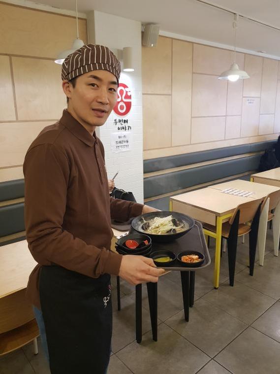 우동 전문 프랜차이즈 용우동 서울 수유점 이병욱 사장. /한국창업전략연구소 제공