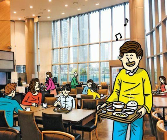경기 수원시'광교 더샵 레이크파크'오피스텔 단지 내 주민 전용 식사 공간.