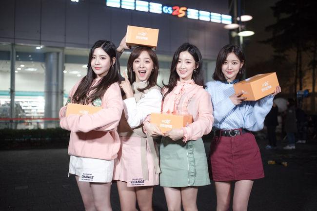구구단 세정·혜연·하나·미미, 광고계 접수한 청순·건강美