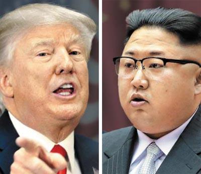 트럼프(왼쪽), 김정은