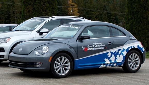2012년 클린 디젤 캐나다 투어라는 명목으로 선전에 나선 폴크스바겐의 디젤 승용차들. 결과적으로 모두를 속인 사기 행위였다. /폴크스바겐