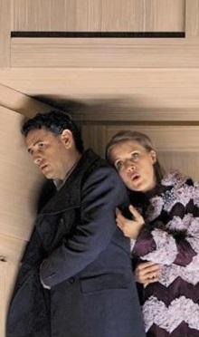 후안 디에고 플로레스(왼쪽)와 안나 스테파니가 공연한 오페라 '베르테르'.
