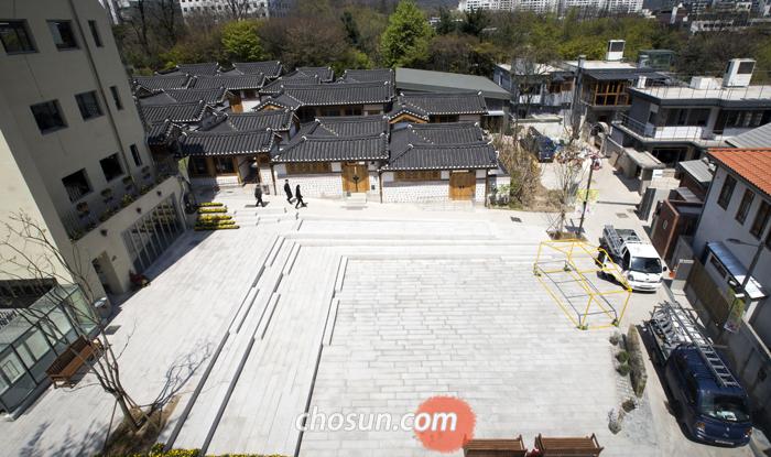 지난 16일 오후 서울 종로구 돈의문 박물관마을이 썰렁한 모습을 보이고 있다.