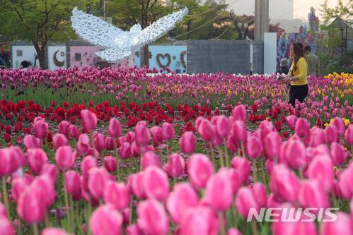 고양 국제 꽃 박람회 개막, 봄꽃의 향연