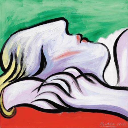 파블로 피카소의 1932년작 '휴식'