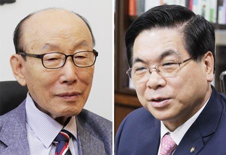 조용기 목사(왼쪽), 이영훈 목사