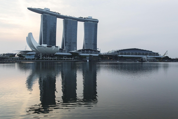 싱가포르 마리나 베이 샌즈 호텔. / 블룸버그