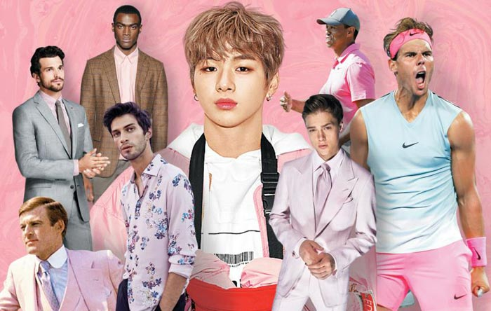 남자들이 가장 꺼릴 것 같은 핑크가 최근 인종, 나이대, 장르를 가리지 않고 가장 주목받는 색상으로 뜨고 있다.