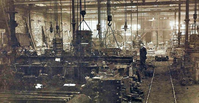 미술관으로 개조된 파리 주철공장의 1891년 모습.