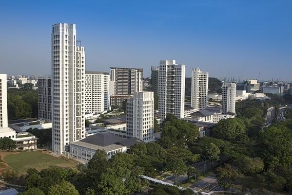 쌍용건설이 건립한 싱가포르 예일-싱가포르 국립대. /쌍용건설 제공