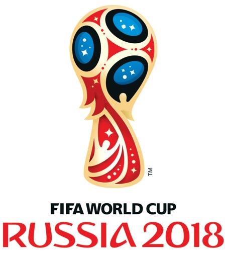 2018 FIFA 러시아월드컵 로고, 디자인 : 브랜디아 센트럴, 2014년.