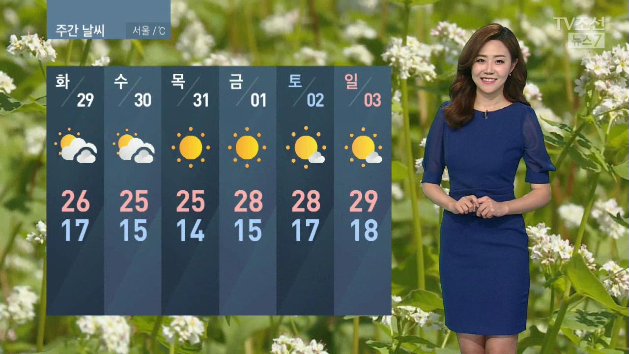 [날씨] 내일 한낮 더위 서울 '28도'…오전 중서부 미세먼지↑