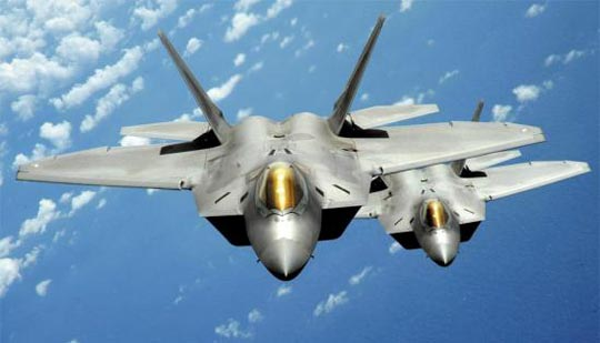 美F-22 스텔스 전투기