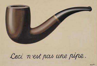 르네 마그리트의 그림 '이것은 파이프가 아니다'.