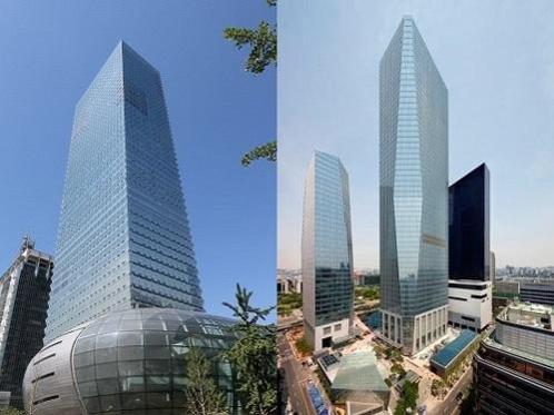 서울 영등포구 여의도 FKI타워(왼쪽)와 서울국제금융센터(IFC) 전경. /조선일보DB