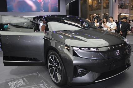 지난 4월 베이징 국제모터쇼에서 출품된 중국 바이텅의 전기차. CATL은 바이텅과 전략적 협력관계를 맺은 데 이어 바이텅의 주주로도 떠올랐다. /베이징=오광진 특파원