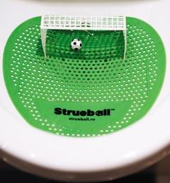상트페테르부르크 호텔의 소변기 - 상트페테르부르크에 있는 한 호텔 소변기. 축구 골대와 공 모형을 소변기 안에 설치해 이용자가 재미를 느낄 수 있도록 했다.