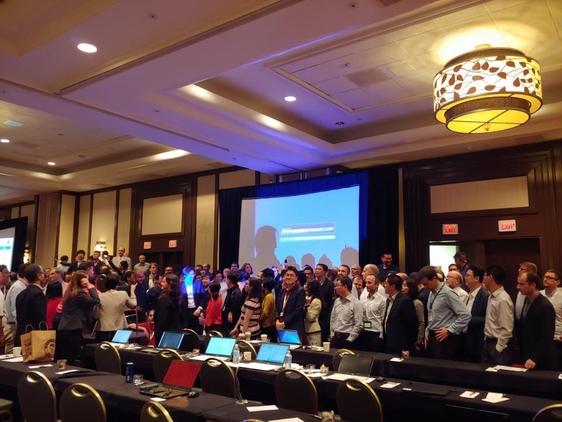 13일(현지 시각) 미국 캘리포니아주 샌디에고 라호야에서 열린 제80차 3GPP 총회. /LG유플러스 제공